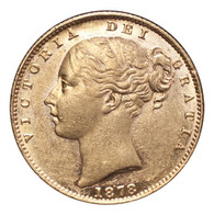 Australia Victoria 1878-S Gold Sovereign Shield EF