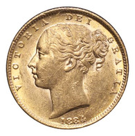 Australia Victoria 1884-S Gold Sovereign Shield EF+