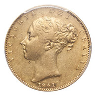 Great Britain Victoria 1841 Gold Sovereign The Key Date PCGS XF45