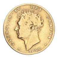 Great Britain George IV 1826 Gold Half-Sovereign Fine