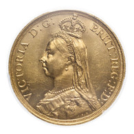 Great Britain Victoria 1887 Gold 2 Pounds PCGS MS63