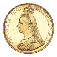 Great Britain Victoria 1887 Gold 5 Pounds Prooflike Choice UNC