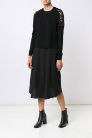 Dorothee Schumacher City Spin Cardigan with Lace