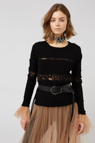 Dorothee Schumacher Lace Embrace Pullover