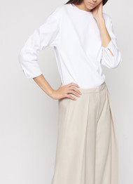 Fabiana Filippi Ribbed Sleeve Poplin Shirt