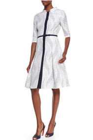 Carolina Herrera Button Front Dress