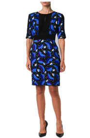 Carolina Herrera Leaf Print Dress