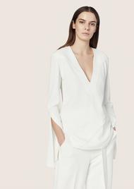 Derek Lam Long Sleeve Top with Asymmetrical Seams