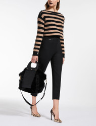 Max Mara Dalila Black Stretch Trousers