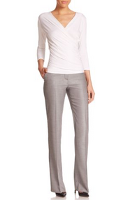 Max Mara Alessia Light Grey Pants