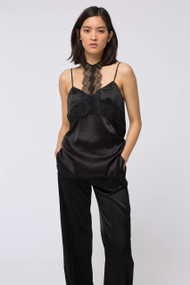 Dorothee Schumacher Pure Black Shiny Delicacy Top