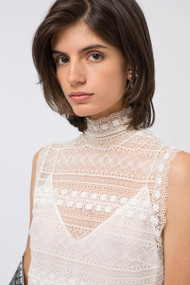 Dorothee Schumacher Sacred Lace Turtleneck Top