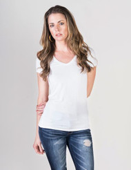 Majestic Filatures Short Sleeve V-Neck Top
