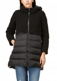 Herno Half Knit Puffer Coat