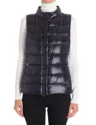 Herno Black Short Fitted Vest