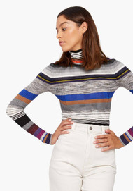 JED Skinnyminirib Striped Turtleneck