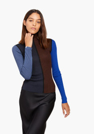 JED Skinnyminirib Seven-Color Turtleneck