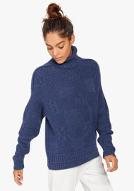 JED Cabled Checkerboard Sweater