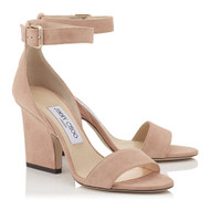 Jimmy Choo Edina Ballet Pink Suede Sandal