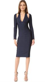Herve Leger Nina Novelty Essentials Dress