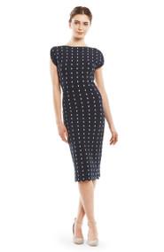 Lela Rose Dot Pattern Fitted Dress