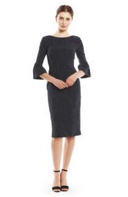 Lela Rose Textured Stretch Jacquard Dress