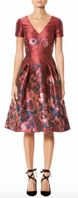 Carolina Herrera Silk Floral Jacquard Dress