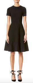 Carolina Herrera Chevron Knit Sweater Dress