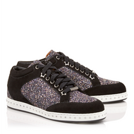 Jimmy Choo Miami Black Twilight Glitter Sneaker