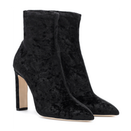 Jimmy Choo Louella Black Velvet Stretch Bootie