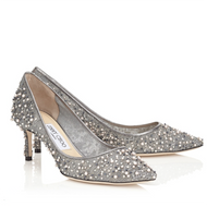 Jimmy Choo Romy Grey Mesh Pump