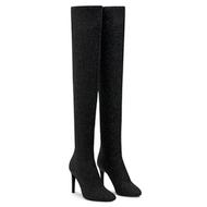 Giuseppe Zanotti Natalie Tall Black Shimmer Boot