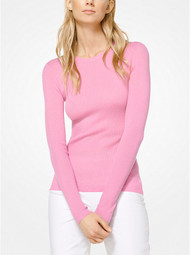 Michael Kors Featherweight Pink Cashmere Pullover