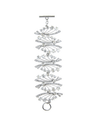 Oscar de la Renta Crystal Deco Fan Bracelet