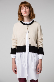 Dorothee Schumacher Two-Toned Lace Cardigan