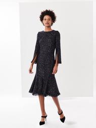 Oscar de la Renta Sequin Tweed Dress