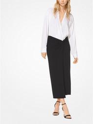 Michael Kors Tissue Matte-Jersey Sarong Skirt