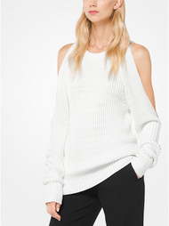 Michael Kors Stretch-Viscose Slashed Pullover