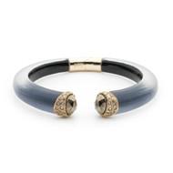 Alexis Bittar Encrusted Double Stone Small Brake Hinge Bracelet