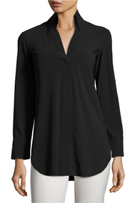 Chiara Boni La Petite Robe Nero Atena Collared Shirt