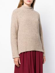Agnona Cable Knit Raglan Chunky Light Camel Sweater