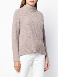 Agnona Cable Knit Raglan Chunky Powder Pink Sweater