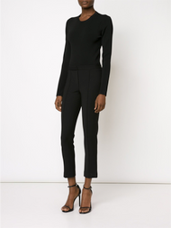 Adam Lippes Cropped Slim Trouser