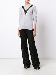 Adam Lippes Lace Inset Sweater