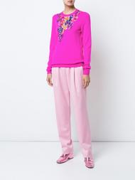 Oscar de la Renta Floral Embellished Sweater