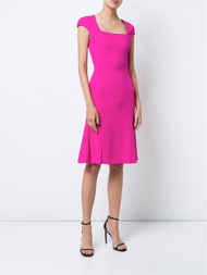 Oscar de la Renta Flounce Hem Dress
