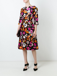 Oscar de la Renta Flower Print Dress