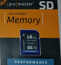 "Promaster ""Performance""  SD HC 16GB (Class 10) Memory Card"