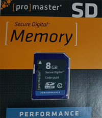 "Promaster ""Performance"" SD HC 8GB (Class 10) Memory Card"