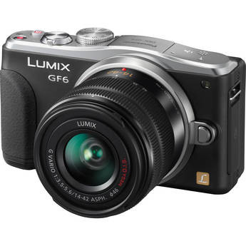 Panasonic Lumix DMC-GF6 Mirrorless Micro Four Thirds Digital Camera with 14-42mm f/3.5-5.6 II Lens